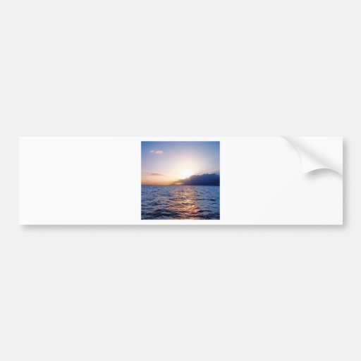 Sunset Caribbean Coast Bumper Stickers