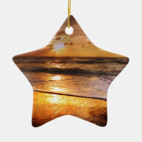 Sunset Ceramic Star Ornament