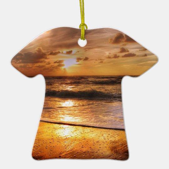Sunset Ceramic T-Shirt Ornament