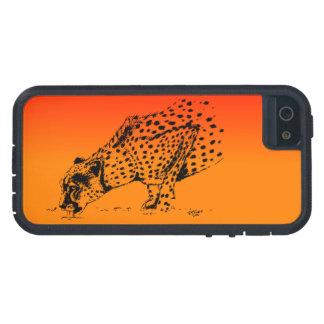 Sunset Cheetah I phone case (tough Extreme)
