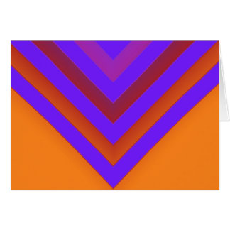 Sunset Chevron Card