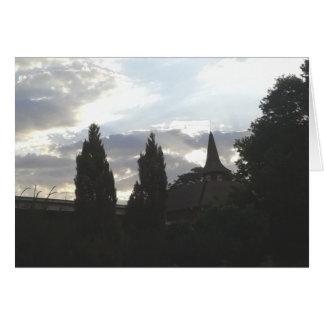 Sunset Church Card