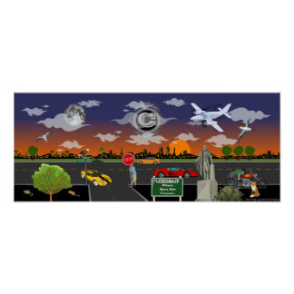"""Sunset City"" Customizable Wall Decor Poster"
