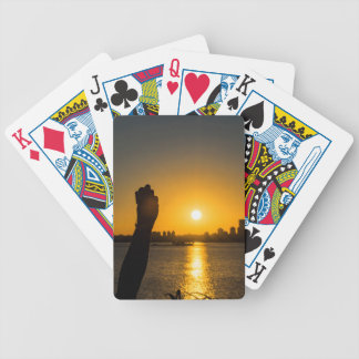 Sunset Cityscape Scene, Montevideo, Uruguay Bicycle Playing Cards