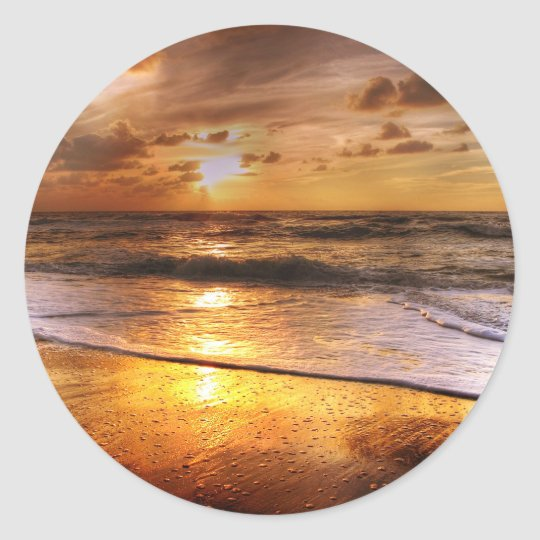 Sunset Classic Round Sticker