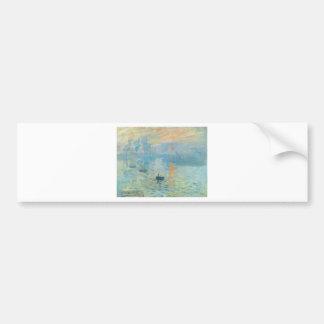 Sunset - Claude Monet Bumper Sticker