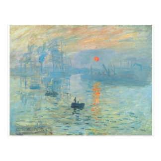 Sunset - Claude Monet Postcard