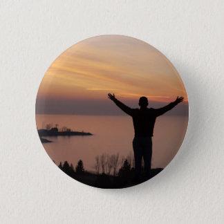 Sunset Cliff 2 Inch Round Button