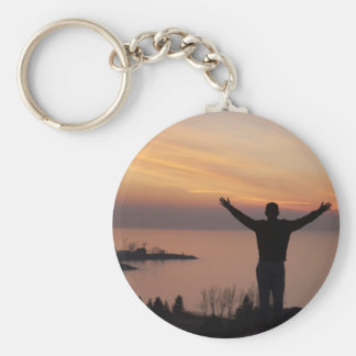 Sunset Cliff Keychain
