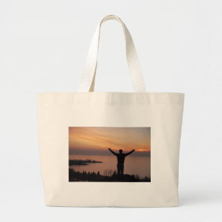 Sunset Cliff Large Tote Bag