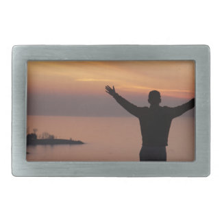 Sunset Cliff Rectangular Belt Buckles