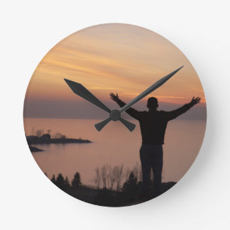 Sunset Cliff Round Clock