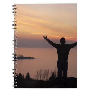 Sunset Cliff Spiral Notebook