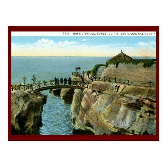 Sunset Cliffs, San Diego, California Vintage Postcard