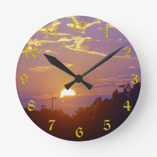 Sunset Clock(Medium) Round Clock