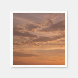 Sunset Clouds IV Pastel Abstract Nature Photograph Disposable Napkins