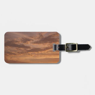 Sunset Clouds IV Pastel Abstract Nature Photograph Luggage Tag