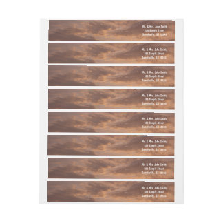 Sunset Clouds IV Pastel Abstract Nature Photograph Wrap Around Label