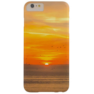 Sunset Coast with Orange Sun and Birds Barely There iPhone 6 Plus Case