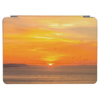Sunset Coast with Orange Sun and Birds iPad Air Cover