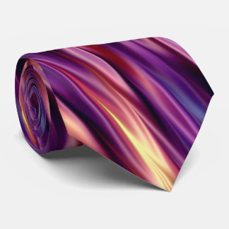 Sunset colored stripes tie