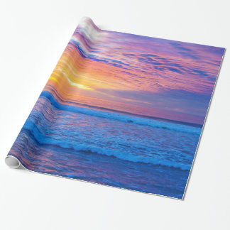 sunset colores wrapping paper
