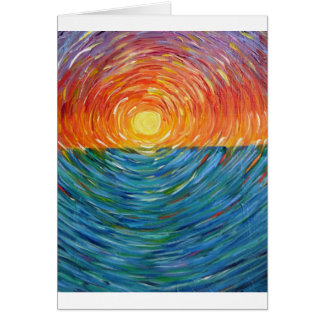 sunset colors card
