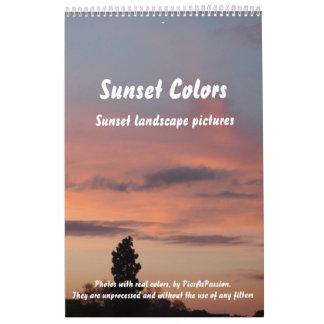 Sunset Colors single page Calendar