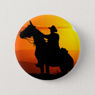 Sunset cowboy-Cowboy-sunshine-western-country 2 Inch Round Button