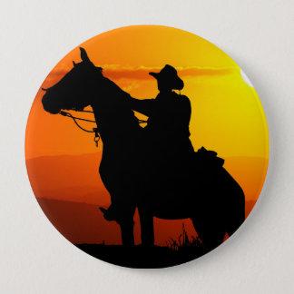 Sunset cowboy-Cowboy-sunshine-western-country 4 Inch Round Button