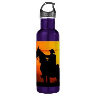 Sunset cowboy-Cowboy-sunshine-western-country 710 Ml Water Bottle
