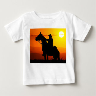 Sunset cowboy-Cowboy-sunshine-western-country Baby T-Shirt