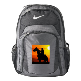 Sunset cowboy-Cowboy-sunshine-western-country Backpack