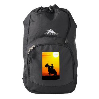 Sunset cowboy-Cowboy-sunshine-western-country Backpack