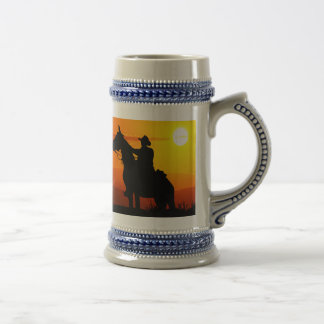 Sunset cowboy-Cowboy-sunshine-western-country Beer Stein