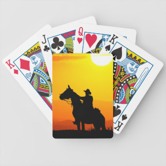 Sunset cowboy-Cowboy-sunshine-western-country Bicycle Playing Cards