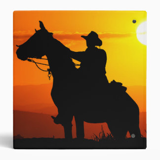 Sunset cowboy-Cowboy-sunshine-western-country Binders