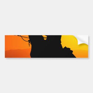 Sunset cowboy-Cowboy-sunshine-western-country Bumper Sticker