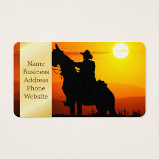Sunset cowboy-Cowboy-sunshine-western-country Business Card