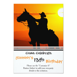 Sunset cowboy-Cowboy-sunshine-western-country Card