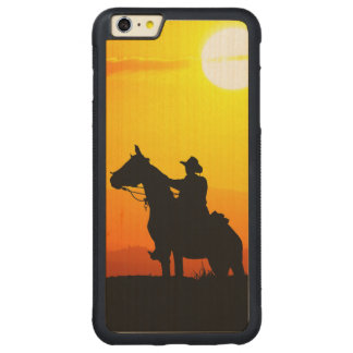 Sunset cowboy-Cowboy-sunshine-western-country Carved Maple iPhone 6 Plus Bumper Case