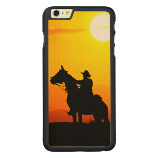 Sunset cowboy-Cowboy-sunshine-western-country Carved Maple iPhone 6 Plus Case