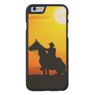 Sunset cowboy-Cowboy-sunshine-western-country Carved® Maple iPhone 6 Slim Case