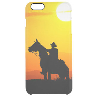 Sunset cowboy-Cowboy-sunshine-western-country Clear iPhone 6 Plus Case