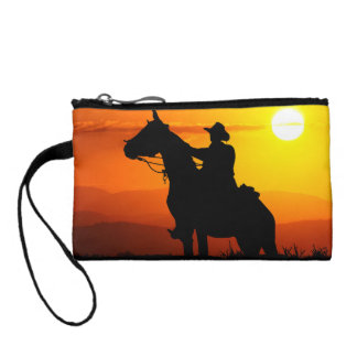 Sunset cowboy-Cowboy-sunshine-western-country Coin Purse