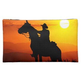 Sunset cowboy-Cowboy-sunshine-western-country Cosmetic Bag