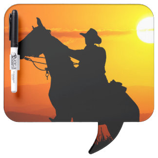 Sunset cowboy-Cowboy-sunshine-western-country Dry Erase Board
