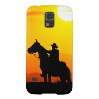 Sunset cowboy-Cowboy-sunshine-western-country Galaxy S5 Cases