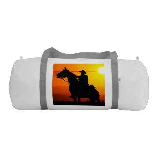Sunset cowboy-Cowboy-sunshine-western-country Gym Bag