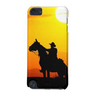 Sunset cowboy-Cowboy-sunshine-western-country iPod Touch 5G Case